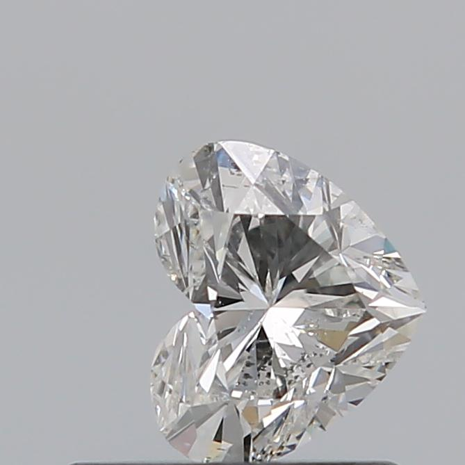 0.50 Carat Heart Loose Diamond, H, SI2, Ideal, GIA Certified