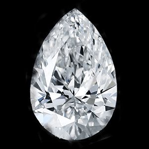 0.37 Carat Pear Loose Diamond, D, I1, Excellent, GIA Certified