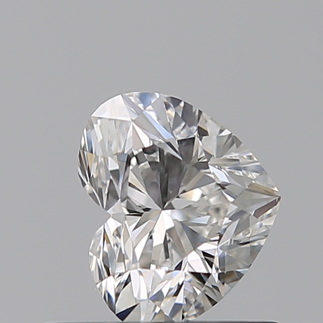 0.50 Carat Heart Loose Diamond, F, VS2, Excellent, GIA Certified