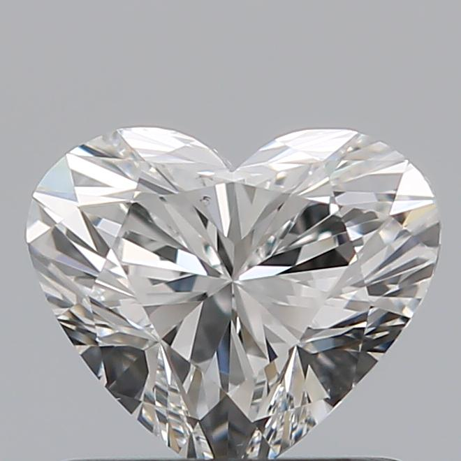 0.75 Carat Heart Loose Diamond, F, VS2, Super Ideal, GIA Certified | Thumbnail