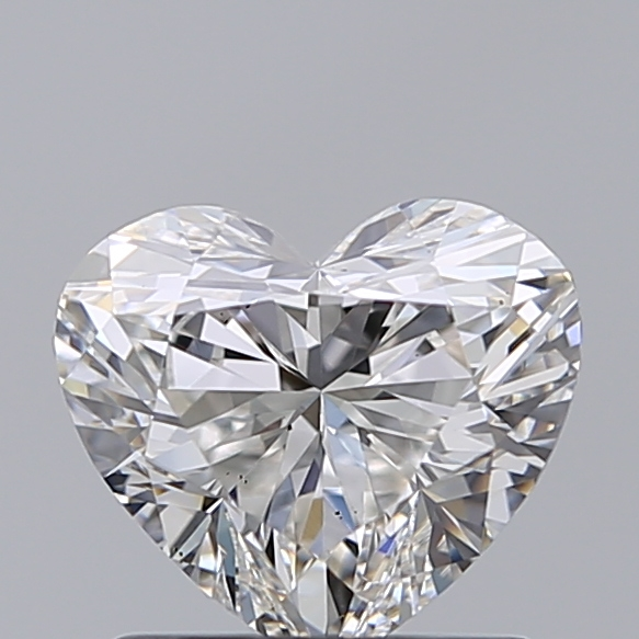 1.00 Carat Heart Loose Diamond, G, VS2, Super Ideal, GIA Certified