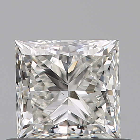 0.51 Carat Princess Loose Diamond, I, SI1, Ideal, GIA Certified