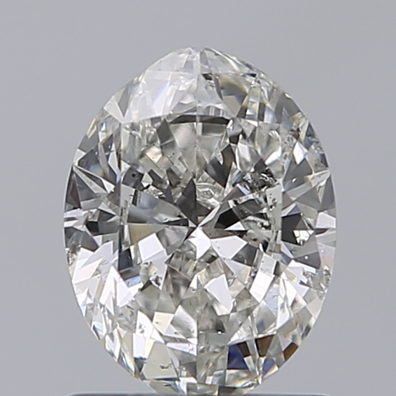 0.96 Carat Oval Loose Diamond, I, SI2, Very Good, GIA Certified