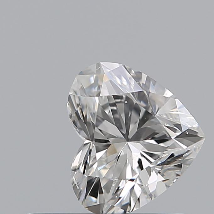 0.50 Carat Heart Loose Diamond, F, SI1, Excellent, GIA Certified