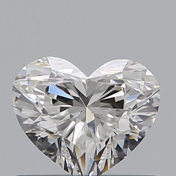 0.51 Carat Heart Loose Diamond, F, VS2, Super Ideal, GIA Certified | Thumbnail