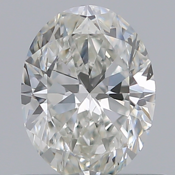 0.51 Carat Oval Loose Diamond, H, VS2, Super Ideal, GIA Certified