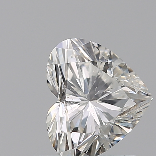 0.50 Carat Heart Loose Diamond, H, SI2, Super Ideal, GIA Certified | Thumbnail