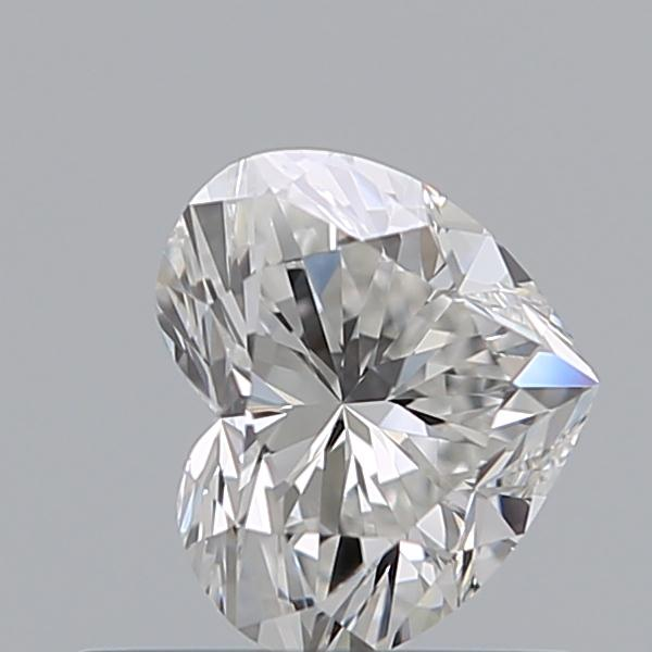 0.52 Carat Heart Loose Diamond, F, VS1, Super Ideal, GIA Certified | Thumbnail