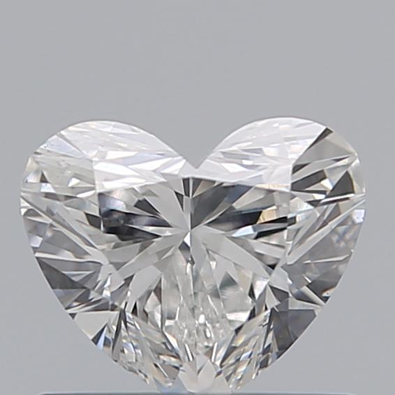 0.59 Carat Heart Loose Diamond, F, SI1, Super Ideal, GIA Certified | Thumbnail