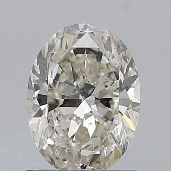 0.90 Carat Oval Loose Diamond, H, SI2, Ideal, GIA Certified