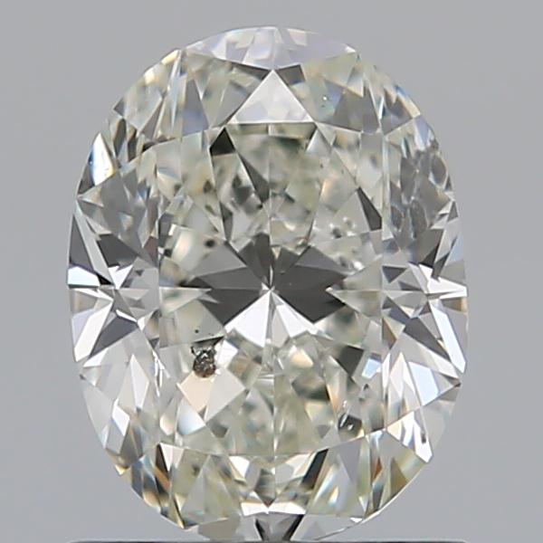 0.92 Carat Oval Loose Diamond, J, I1, Excellent, GIA Certified
