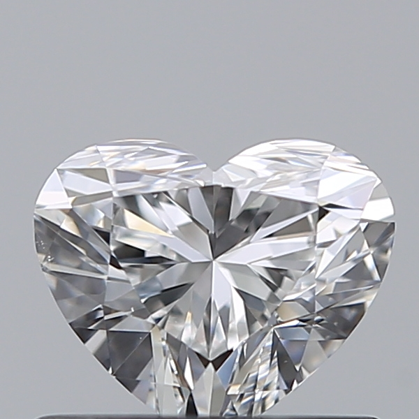 0.50 Carat Heart Loose Diamond, E, VS2, Super Ideal, GIA Certified