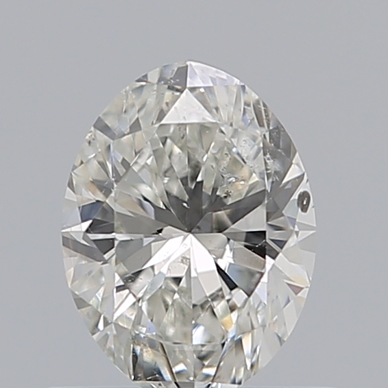 0.52 Carat Oval Loose Diamond, H, SI2, Ideal, GIA Certified