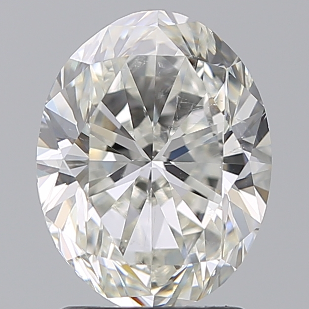 2.00 Carat Oval Loose Diamond, I, SI1, Excellent, GIA Certified