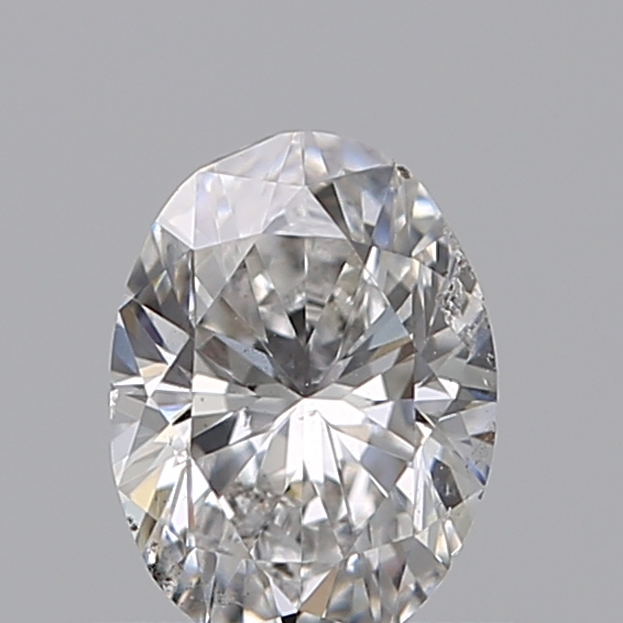 0.50 Carat Oval Loose Diamond, D, I1, Very Good, GIA Certified