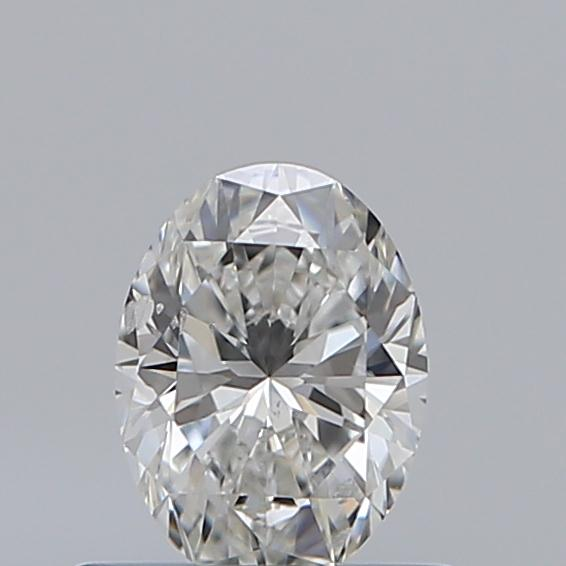 0.50 Carat Oval Loose Diamond, G, SI2, Ideal, GIA Certified