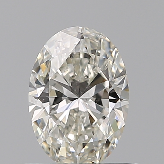 0.51 Carat Oval Loose Diamond, I, SI2, Super Ideal, GIA Certified | Thumbnail