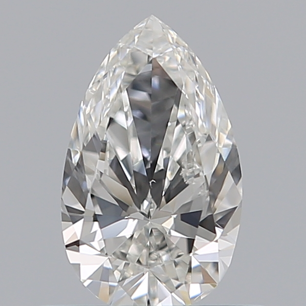 0.49 Carat Pear Loose Diamond, G, VS2, Ideal, GIA Certified