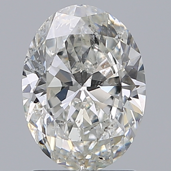 1.50 Carat Oval Loose Diamond, H, SI2, Super Ideal, GIA Certified