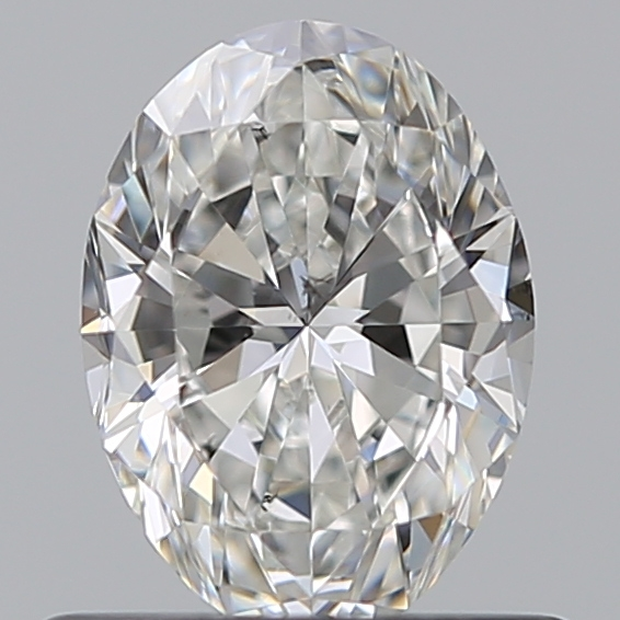 0.57 Carat Oval Loose Diamond, G, SI1, Ideal, GIA Certified