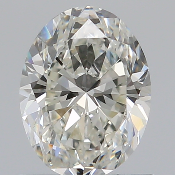 0.70 Carat Oval Loose Diamond, H, VS1, Ideal, GIA Certified