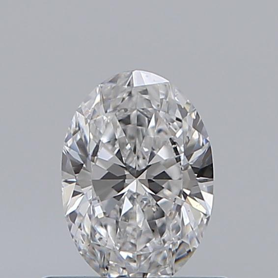 0.50 Carat Oval Loose Diamond, D, VS2, Super Ideal, GIA Certified