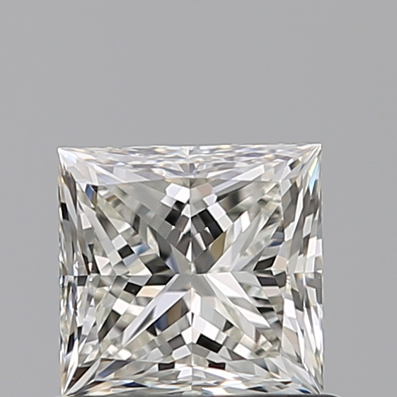 0.70 Carat Princess Loose Diamond, J, VVS2, Ideal, GIA Certified