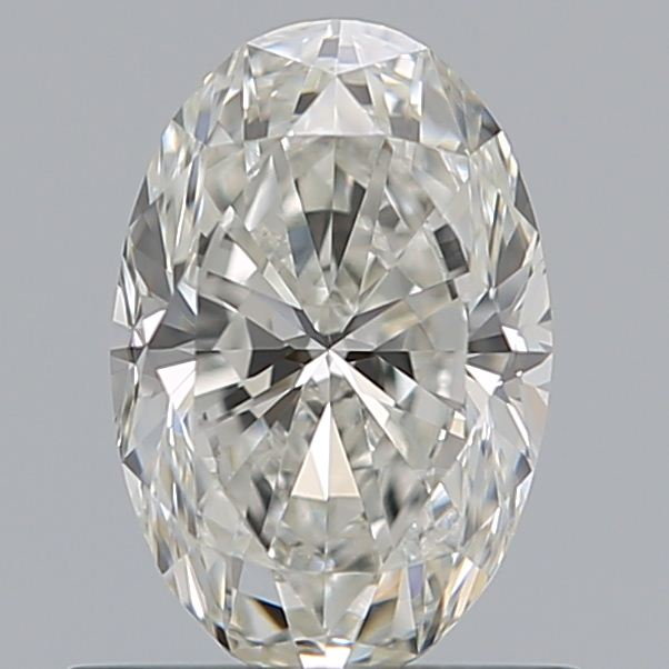 0.70 Carat Oval Loose Diamond, H, VVS2, Excellent, GIA Certified