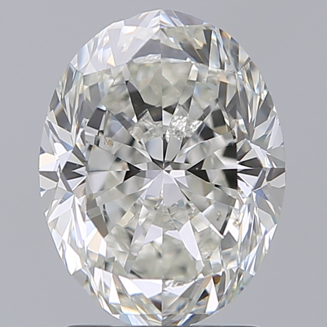2.00 Carat Oval Loose Diamond, H, SI1, Excellent, GIA Certified