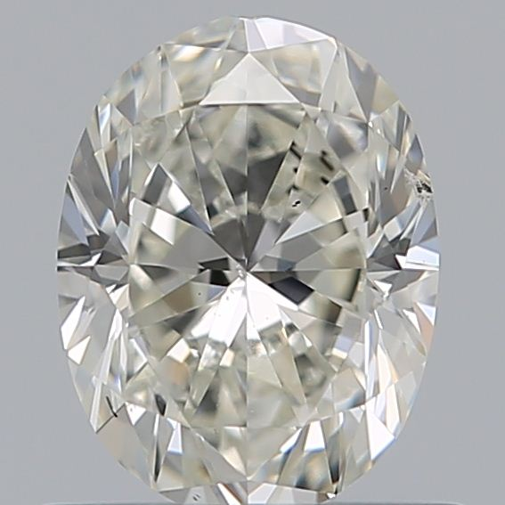 0.69 Carat Oval Loose Diamond, J, SI2, Excellent, GIA Certified