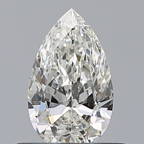 0.43 Carat Pear Loose Diamond, H, VVS2, Ideal, GIA Certified