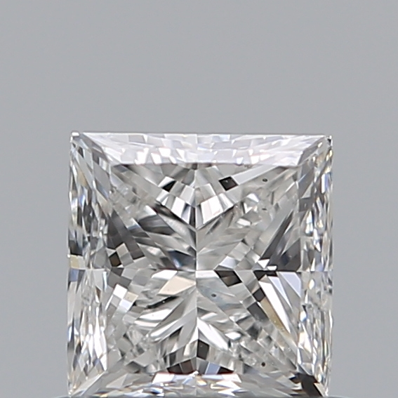 0.70 Carat Princess Loose Diamond, F, SI1, Excellent, GIA Certified