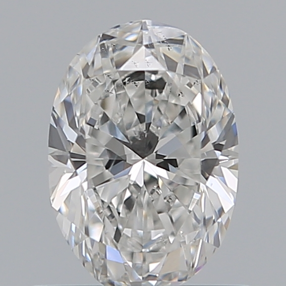 0.59 Carat Oval Loose Diamond, E, SI2, Ideal, GIA Certified