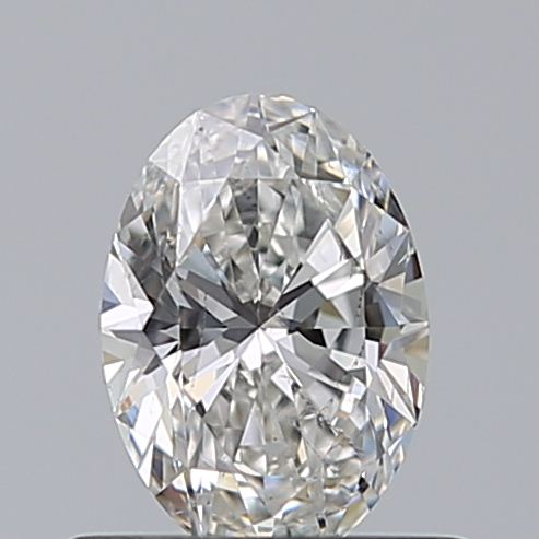 0.52 Carat Oval Loose Diamond, F, SI2, Ideal, GIA Certified | Thumbnail