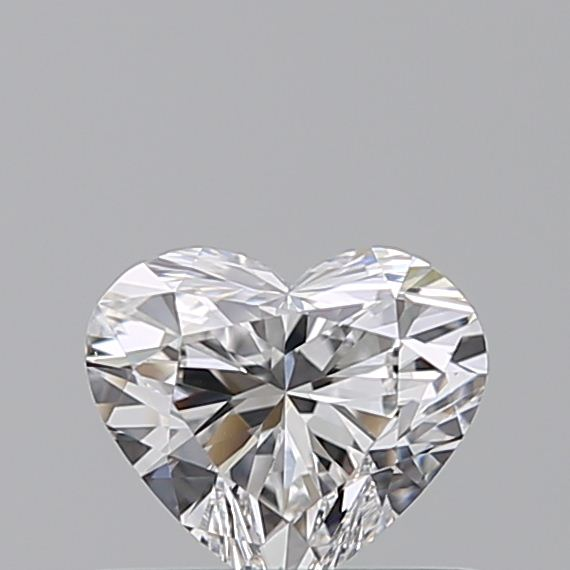 0.42 Carat Heart Loose Diamond, D, VS2, Ideal, GIA Certified | Thumbnail
