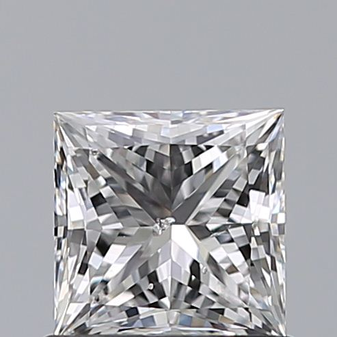 0.83 Carat Princess Loose Diamond, E, SI2, Super Ideal, GIA Certified | Thumbnail