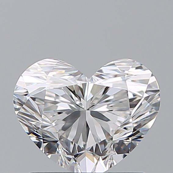 1.00 Carat Heart Loose Diamond, E, IF, Ideal, GIA Certified