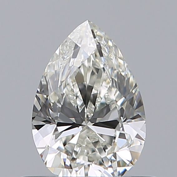 0.50 Carat Pear Loose Diamond, I, VS1, Excellent, GIA Certified