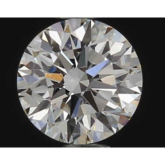 0.42 Carat Round Loose Diamond, F, VS2, Super Ideal, GIA Certified