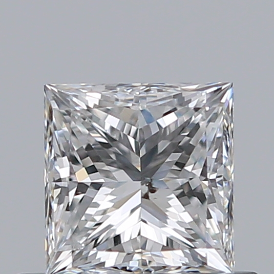 0.50 Carat Princess Loose Diamond, E, SI2, Ideal, GIA Certified
