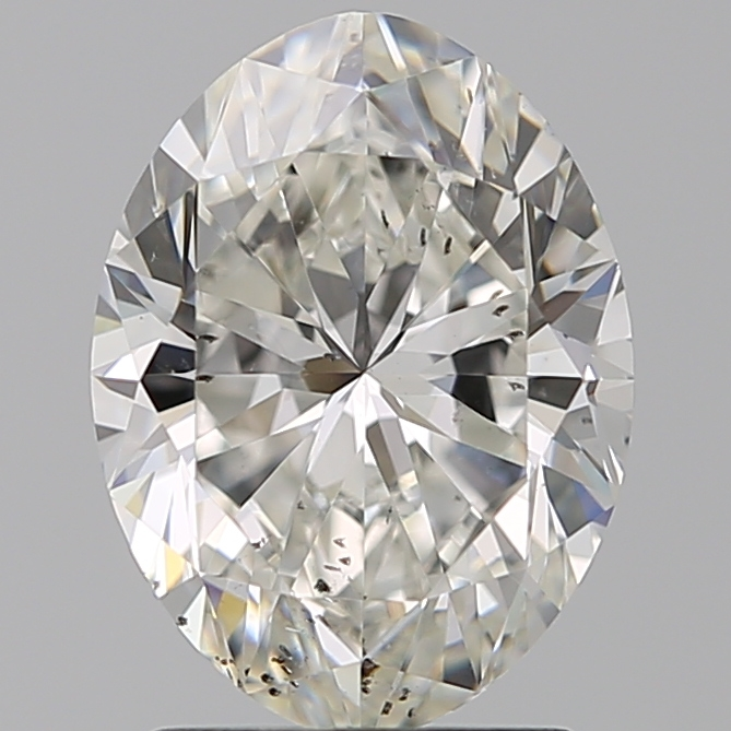 1.90 Carat Oval Loose Diamond, H, SI2, Super Ideal, GIA Certified