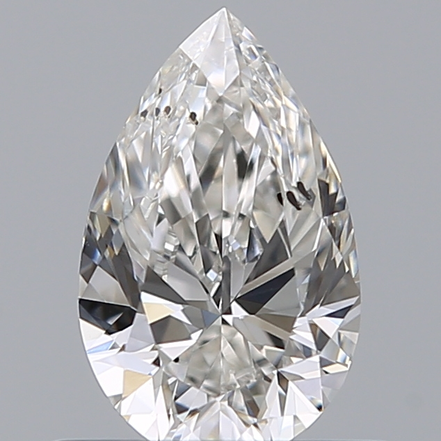 0.50 Carat Pear Loose Diamond, H, SI2, Ideal, GIA Certified | Thumbnail