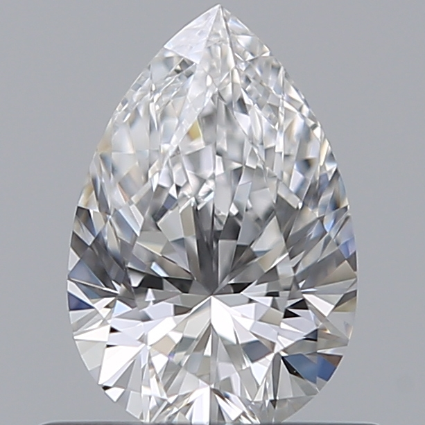 0.50 Carat Pear Loose Diamond, D, IF, Super Ideal, GIA Certified