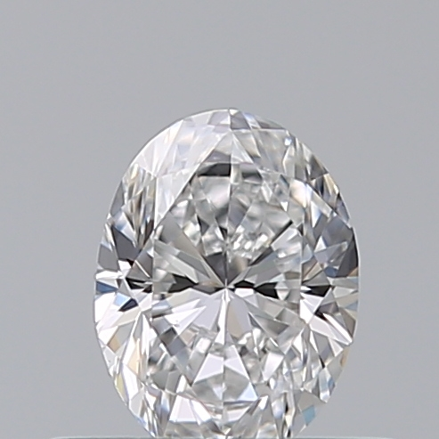 0.40 Carat Oval Loose Diamond, D, VVS2, Excellent, GIA Certified