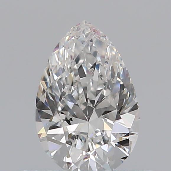 0.40 Carat Pear Loose Diamond, F, VS2, Excellent, GIA Certified