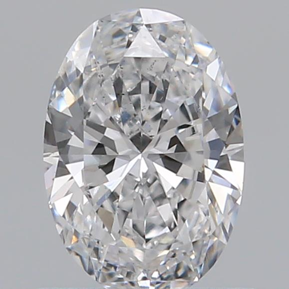 0.59 Carat Oval Loose Diamond, D, SI1, Ideal, GIA Certified