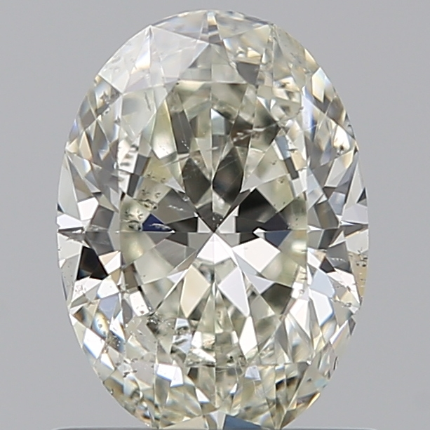 0.70 Carat Oval Loose Diamond, K, SI2, Super Ideal, GIA Certified