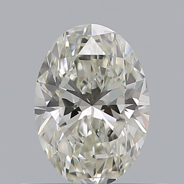 0.50 Carat Oval Loose Diamond, J, VS2, Super Ideal, GIA Certified