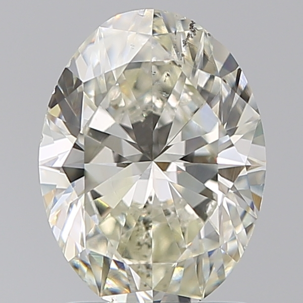 1.50 Carat Oval Loose Diamond, L, SI1, Ideal, GIA Certified