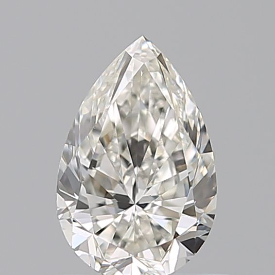 0.50 Carat Pear Loose Diamond, I, VVS2, Very Good, GIA Certified